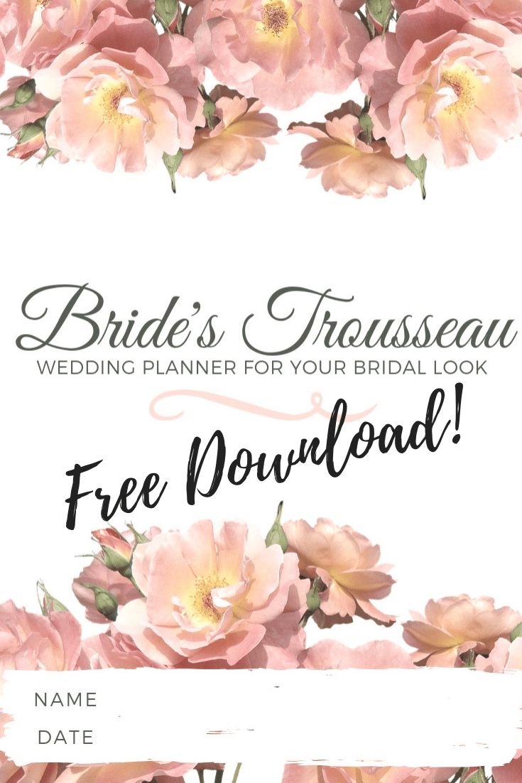 FREE Download Bridal Planner - The Bride's Trousseau | Heili