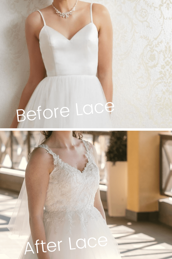Wedding Dress Lace Overlay Before And After Heili Bridal,Wedding Dresses Abilene Tx