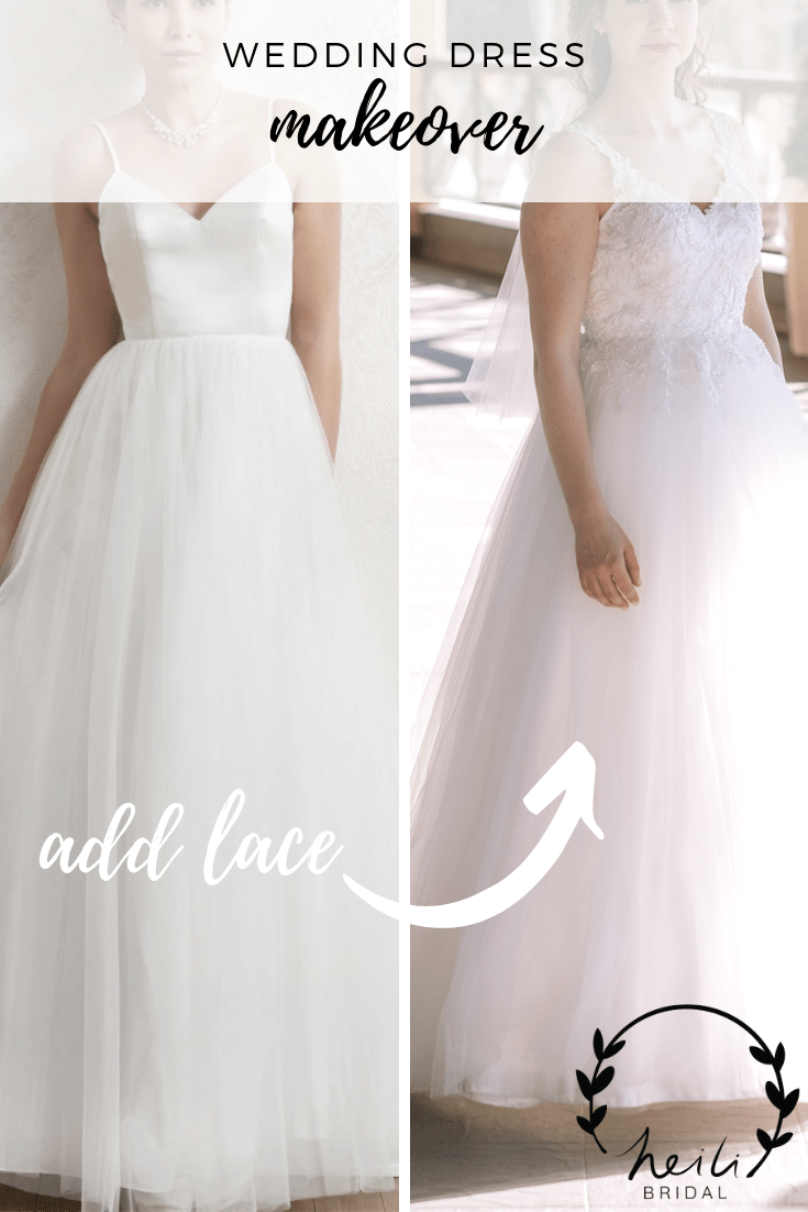 Wedding Dress Lace Overlay Before And After Heili Bridal