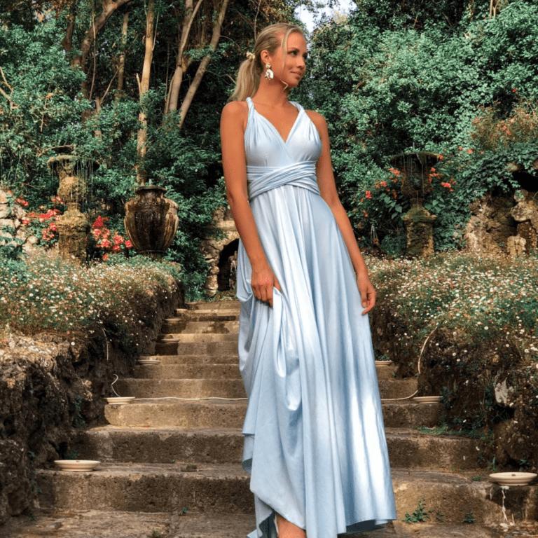 Full Length Infinity Dress Wide Hem Heili Bridal
